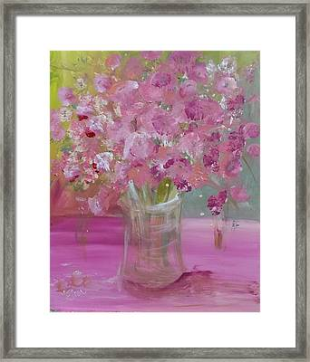 Pink Explosion Framed Print