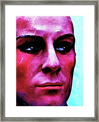 Painted Face Framed Print by Andre Brown