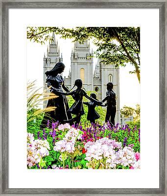 Pink Family Slc Temple Framed Print