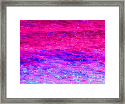 Pink Fantasy Waters Abstract Framed Print