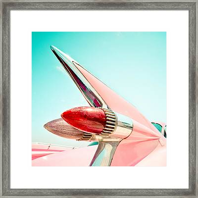 Pink Fin Framed Print by David Waldo