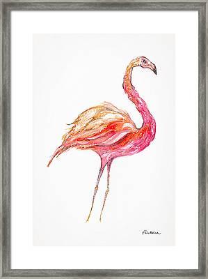 Pink Flamingo Bird Framed Print