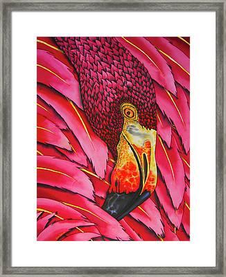 Pink Flamingo Framed Print by Daniel Jean-Baptiste