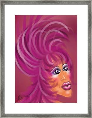Pink Flamingo Framed Print by Ronald Terrel