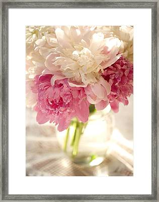 Pink Floal Framed Print by George Robinson