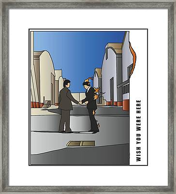 Pink Floyd - Wish You Were Here Framed Print by Tomas Raul Calvo Sanchez