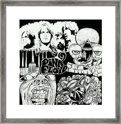 Pink Floyd And King Crimson Framed Print by Nikita Thapa