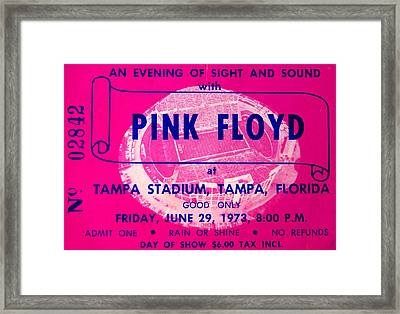 Pink Floyd Concert Ticket 1973 Framed Print