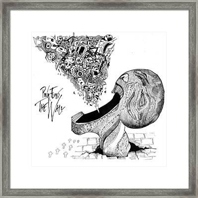 Pink Floyd Framed Print by Milanpreet Kaur