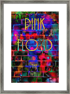 Pink Floyd The Wall Framed Print by Dan Sproul