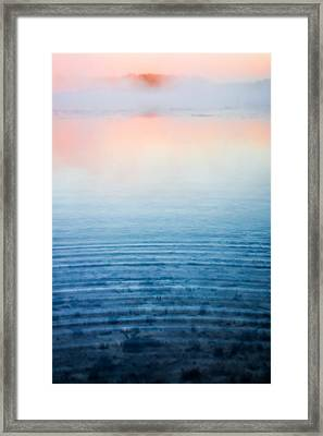Pink Fog At Sunrise Framed Print by Shelby  Young