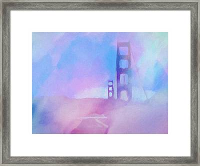 Pink Fog Golden Gate Framed Print by Lutz Baar