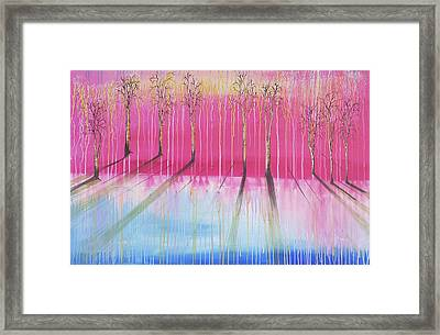 Pink Forest Framed Print by Cat Crimson