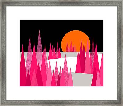 Pink Forest Framed Print by Val Arie