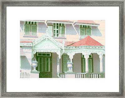 Pink Fretwork Framed Print by Barbara Marcus