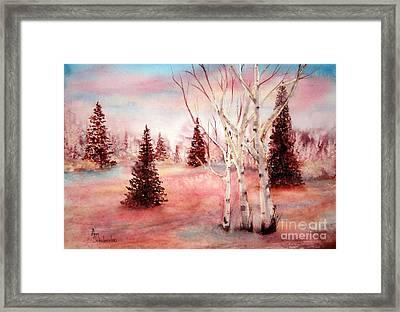 Pink Frost Framed Print