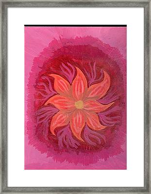 Pink Fusion Framed Print by Laura Lillo