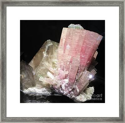 Pink Gemstone Framed Print