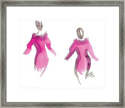 Pink Girls Framed Print