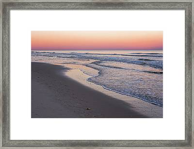 Pink Glow Seaside New Jersey 2017 Framed Print by Terry DeLuco