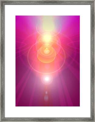 Pink Guardian-angel Framed Print by Ramon Labusch