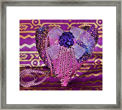 Pink Have A Heart  Framed Print