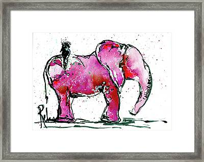 Pink Heart Framed Print by Reba Mcconnell