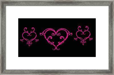 Pink Hearts  Framed Print