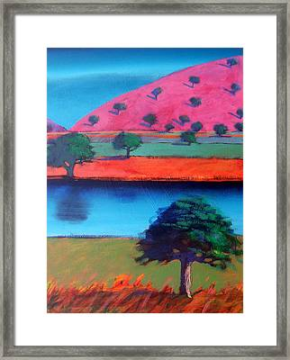 Pink Hill Two Framed Print by Paul Powis
