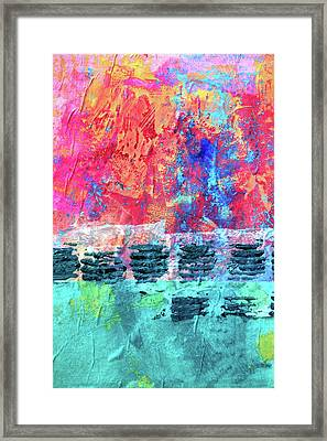 Framed Print featuring the painting Pink Horizon by Nancy Merkle