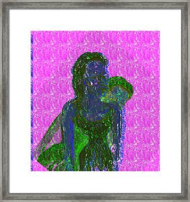 Pink Horizon Framed Print by Noredin Morgan