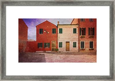 Framed Print featuring the photograph Pink Houses by Anne Kotan
