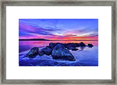Pink Ice At Dawn Framed Print by ABeautifulSky Photography