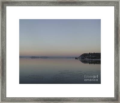Pink Ice Framed Print by Faith Harron Boudreau