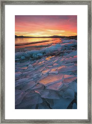 Pink Ice Framed Print