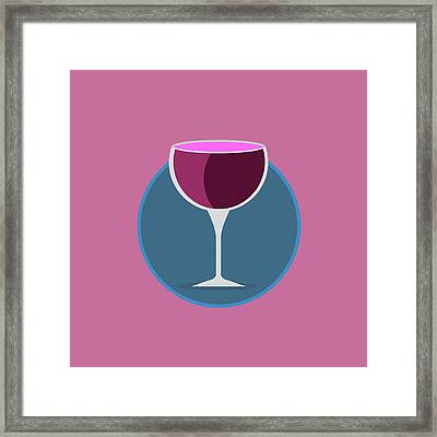 Pink Icon Of The Wine Framed Print by Michal Blaha