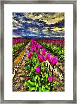 Pink Impression 2 Framed Print by Mark Kiver
