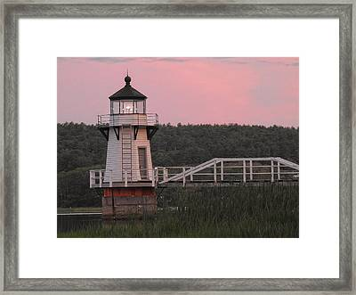 Pink In The Morning Framed Print