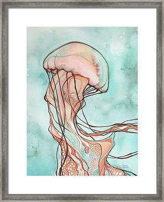 Pink Jellyfish Framed Print