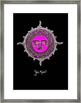 Pink Jewel Mohawk Sun Framed Print by John Keaton