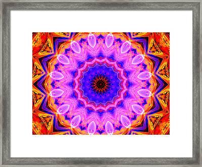 Pink Kaleidoscope Framed Print
