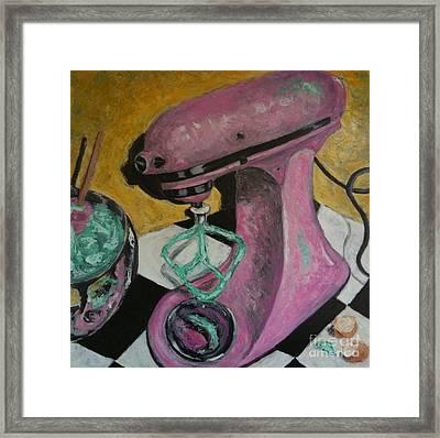 Pink Kitchenaid Framed Print by Sherri Bramlett