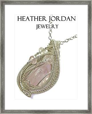Pink Kunzite Pendant In Sterling Silver With Morganite Knzss6 Framed Print