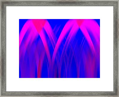 Pink Lacing Framed Print by Carolyn Marshall