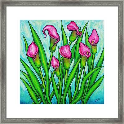 Pink Ladies Framed Print by Lisa  Lorenz