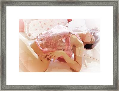 Pink Lady Framed Print by Kiran Joshi