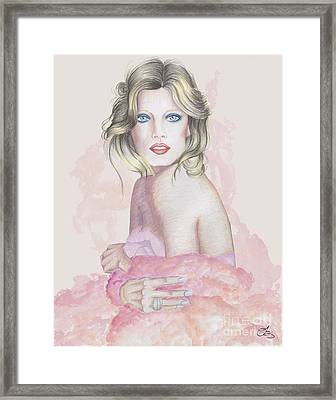 Pink Lady Framed Print by Samantha Burns