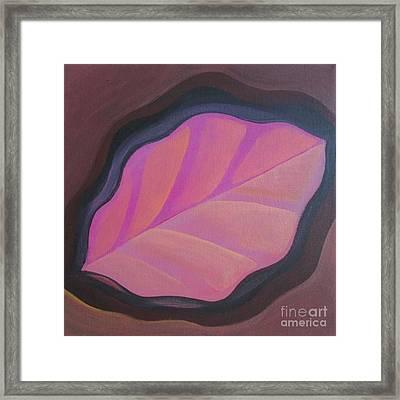 Pink Leaf Framed Print