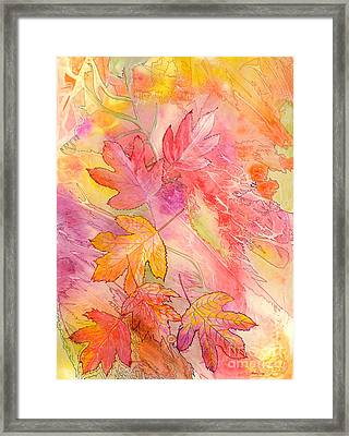 Pink Leaves Framed Print