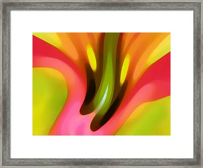 Pink Lily Horizontal Framed Print by Amy Vangsgard